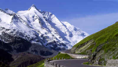 High Alpine Road in front of the Grossglockner