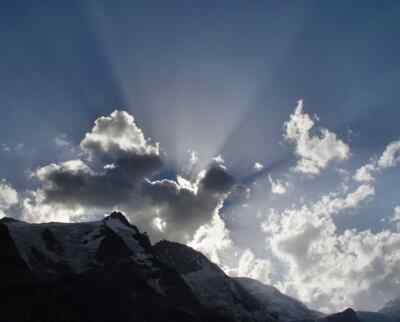 Sunlight over the Grossglockner