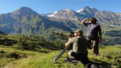 Two people with camera at Grossglockner