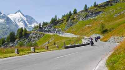 Motorradfahren nahe dem Großglockner