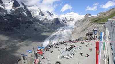 The glacier at Hochalpenstraße
