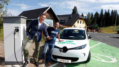 E-Ladestation Villacher Alpenstraße Aichingerhütte