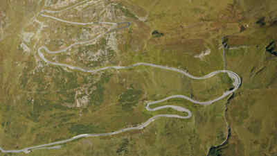 Bird's-eye view of the Gossglockner High Alpine Road