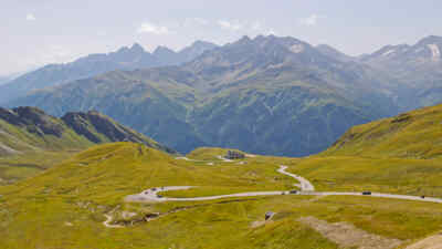 Panorama view of the Grossglockner High Alpine Road