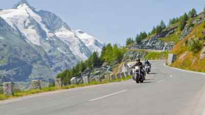 Harley Davidson on the High Alpine Road