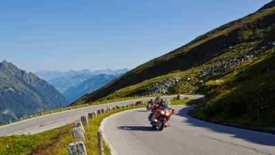 American motorcycles on the High Alpine Road