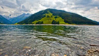 Landschaftsaufnahme auf der Gerlos Alpenstrasse