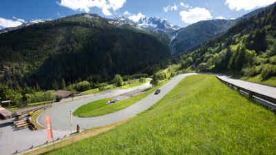 Car down the Gerlos Alpine Road