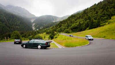 Return with 4 cars Gerlos Alpine Road