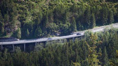 Side view of Gerlos alpine road