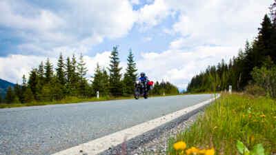Motorradfahrer auf Gerlos