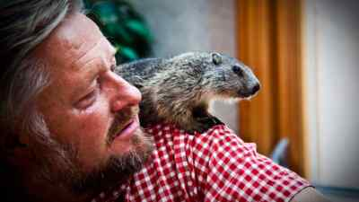 Landlord with marmot