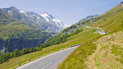 The Grossglockner in the background of the High Alpine Road