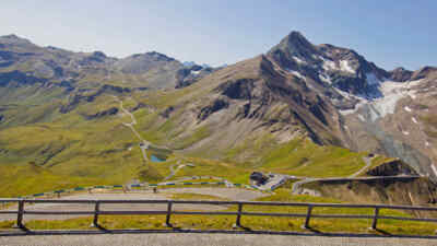 View of the Grossglockner High Alpine Raod
