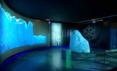 Exhibition glacier ice