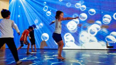 Children in the water scenario