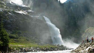 Krimml waterfalls from below