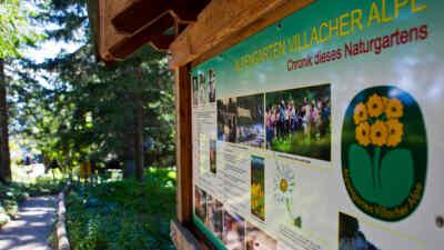 Alpengarten Dobratsch Infoschild