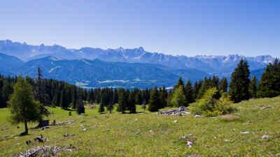 landscape around the Villacher alpine road